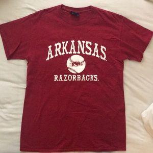 University of Arkansas baseball tee